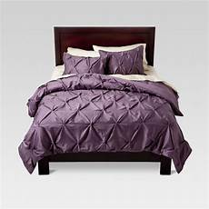 lavender pinched pleat comforter set king 3pc threshold target