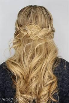 half up lace braids