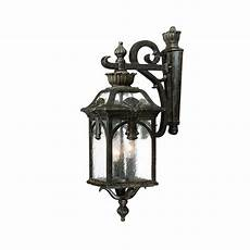 acclaim lighting belmont collection 3 light black coral outdoor wall light fixture 7112bc