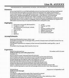 medical billing and coding specialist objectives resume