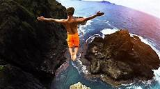 cliff jumping hawaii 2 0 80 foot jump youtube