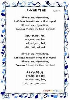 rhyme time song lyrics by brightkidzsongs teachers pay teachers