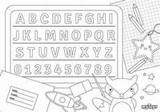 Ausmalbilder Zahlen Und Buchstaben Spielerisch Lernen Ausmalbilder Buchstaben