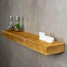 Levandeo Wandregal Holz Massiv 100x20cm Eiche Farbig