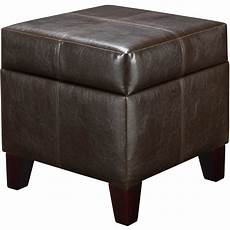 brown leather storage ottoman comfort living room bedroom furniture footstool ebay