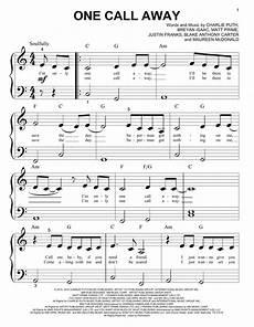 puth one call away sheet music
