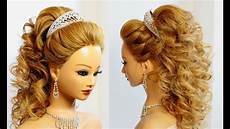 bridal hairstyle for long hair tutorial youtube