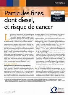Particules Fines Dont Diesel Et Risque De Cancer Eset