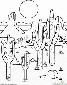 animals in the desert coloring pages 17026 color the desert landscape school related desert crafts coloring pages west theme