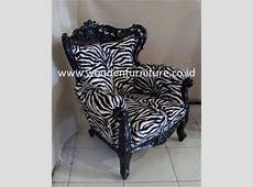 French Style Sofa Zebra Animal Print Antique Reproduction