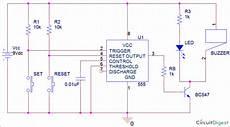 Panic Alarm Button Circuit Using 555 Timer Ic Arroboticsblog