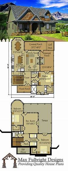 bungalow house plans with walkout basement small cottage plan with walkout basement in 2019 cottage