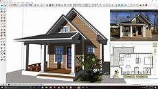 sketchup house plan sketchup modeling one bedroom house plan from photo h01