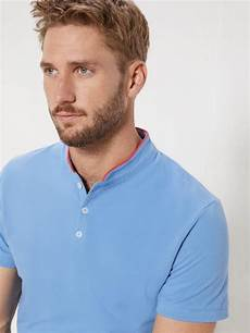polo col mao homme polo col mao homme manches courtes blanc homme