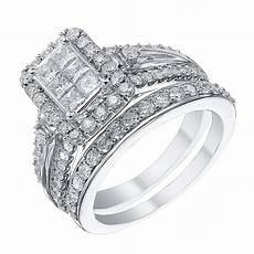 9ct white gold 1 25 carat diamond bridal ring h samuel