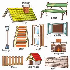 Hausteile Stock Abbildung Illustration Trennvorhang