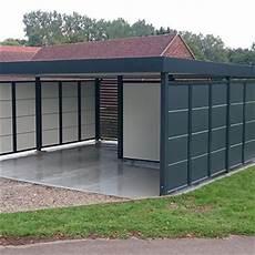 carport geschlossen mit tor carport ausstattung material holz metall alu und stahl