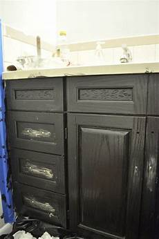 the oak house project updated bathroom cabinet makeover jennifer rizzo