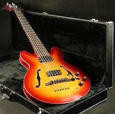 6 Strings Semi Hollow Electric Bass Guitar C335a