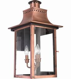 quoizel cm8412ac chalmers 3 light 23 inch aged copper outdoor wall lantern