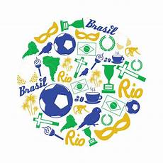simbolos naturales de brasil iconos del brasil y sistema de s 237 mbolos en el c 237 rculo eps10 ilustraci 243 n del vector ilustraci 243 n