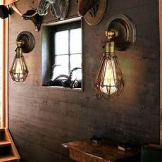 online cheap edison vintage wall light chandeliers rustic wire cage hanging wall light