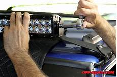 how to install led light bar on roof installing a rigid industries e series led light bar road