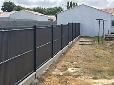 cloture en panneau rigide cl 244 ture et portail vent des jardins