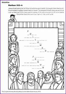 jesus disciple s names fill in the blanks lots more printables this site printables
