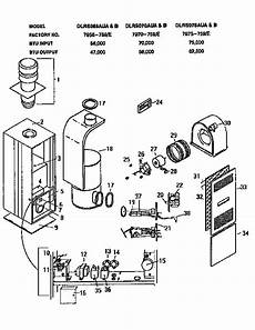 Coleman Evcon Ind Gas Furnace Parts Model Dlrs075aub