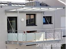 balkon anbauen ohne stützen balkondach dach aus stahl f 252 r ihren balkon