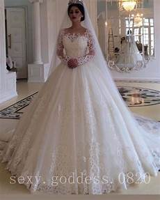 vintage princess lace applique wedding dresses long sleeves ballgown bridal gown ebay