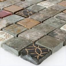 glas naturstein mosaik fliesen mix 23x23x8mm ht88473m