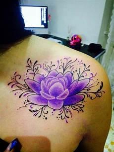 tatto fiori di loto besaly tatuaggio fiore di loto viola purple
