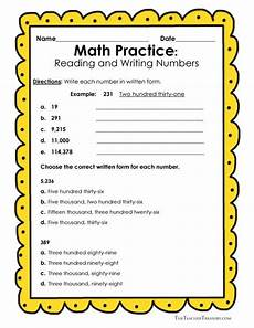 writing numbers worksheet 4th grade 21151 reading and writing numbers in expanded form standard form and written form including a