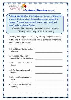 sentence writing worksheets year 2 22253 grade 3 grammar topic 36 sentence structure worksheets lets knowledge