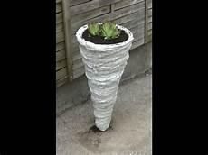 säulen selber machen anleitung pflanzentuete oder beton kegel