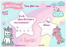 Carte D Invitation D Anniversaire Th 232 Me Des Licornes