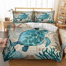 sea turtle 3d duvet soft polyester bedding cover free shipping atchie essentials
