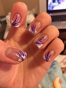 purple design french tip french tip nail designs french