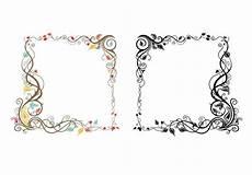 cornici illustrator leaves and swirls frame vector pack free