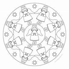 engel mandala 3 weihnachtsengel basteln ausmalbilder