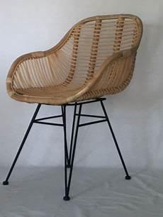 rattanstuhl natur korb stuhl retro sessel lounge loft