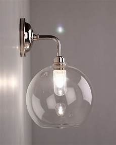 wall lights for bathroom uk lenham contemporary clear glass bathroom wall light