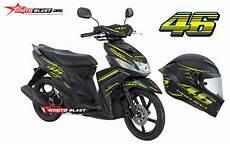Mio M3 Modifikasi by Yamaha Mio M3 Black Vr46 Project Motoblast