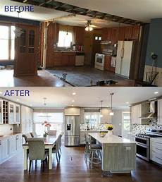 kitchen dining room renovation ideas before and after of this beautiful open concept kitchen