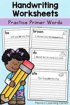 handwriting worksheets for kids dolch primer words mamas learning corner