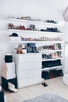 Schuhe Verstauen Wenig Platz - meine schuhwand im ankleideraum und style aus