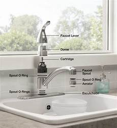 kitchen sink faucet parts fixing bathroom problems leaky faucets bathwise