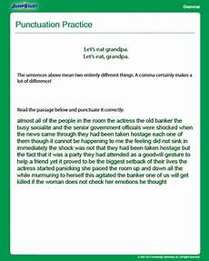 punctuation practice worksheets for grade 4 20973 punctuation practice grammar worksheet 4th grade jumpstart